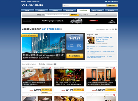 Yahoo! Local Deals